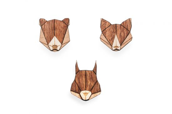 BeWooden - Squirell, fox and bear 0