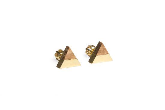 BeWooden - 0 Sole earrings triangle