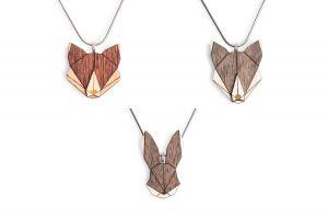 Wolf & Fox & Hare Pendant Set