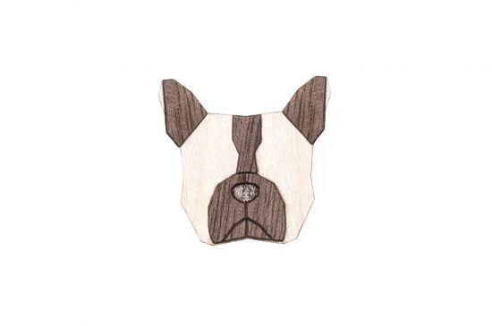 BeWooden - 0 Bulldog brooch cover