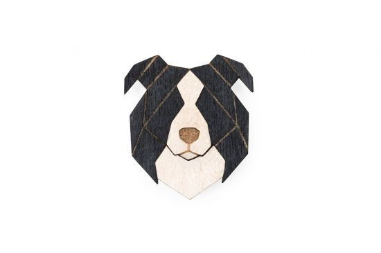 BeWooden - 0 Border collie brooch cover