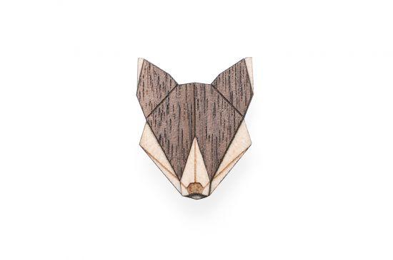 BeWooden - Wolf Brooch
