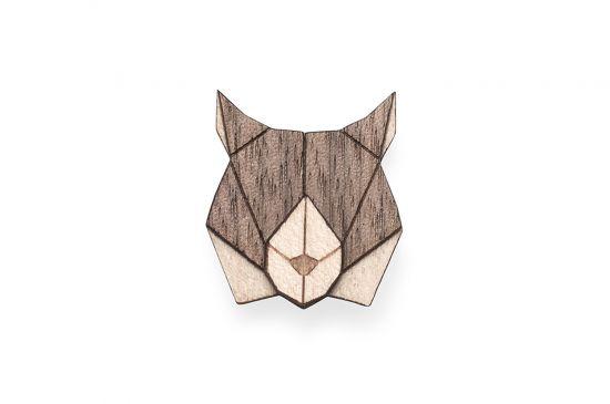 BeWooden - Lynx Brooch