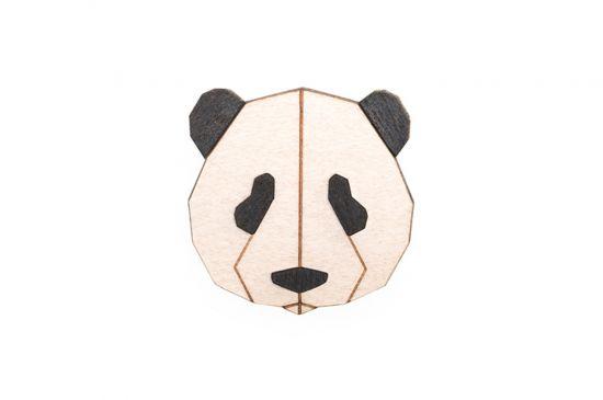 BeWooden - Panda Brooch