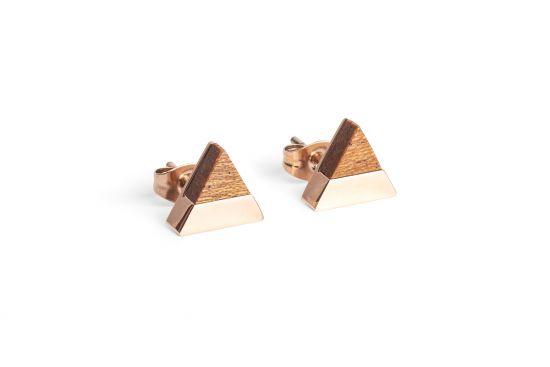 BeWooden - 0 Rea earrings triangle