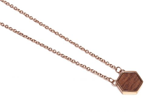 BeWooden - Rea Necklace Hexagon