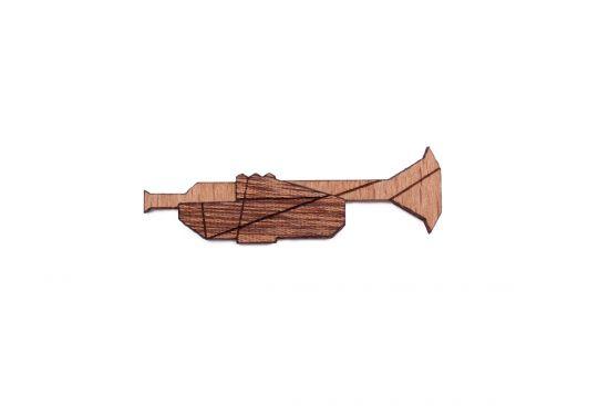 BeWooden - Trumpet brooch