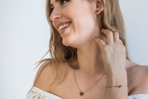 Rose Earrings Heart