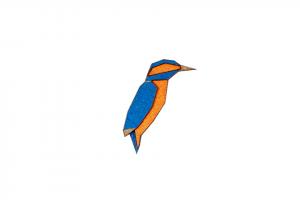 Kuningaskalastaja Brooch